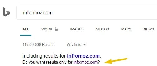 Bing search results for the search parameter info:
