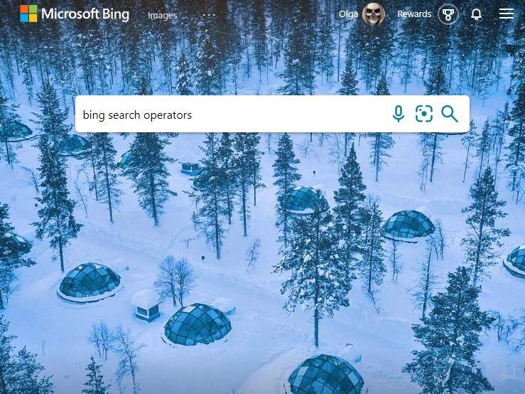 Bing search operators