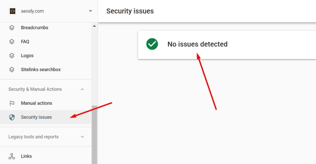 Google page experience: safe browsing
