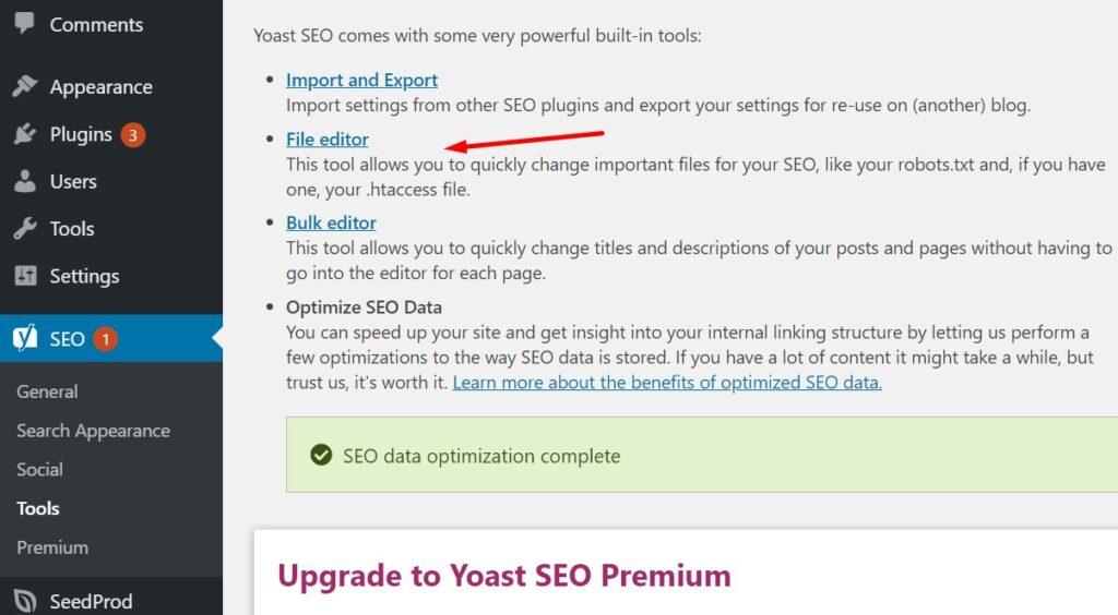 How to access robots.txt in WordPress in Yoast SEO