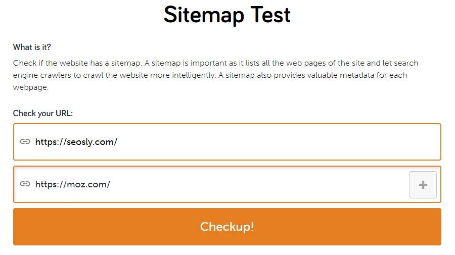 SEO Site Checkup competition comparison