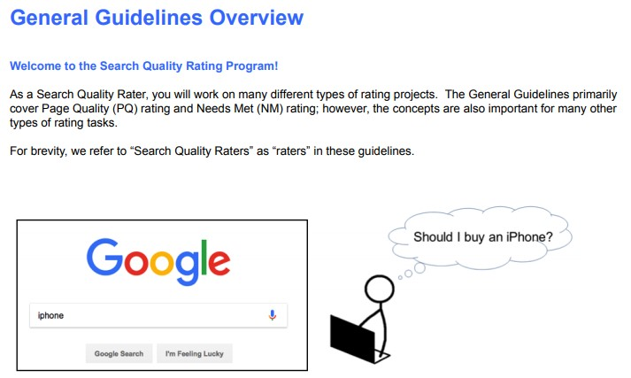SEO Basics: Google search quality raters guidelines
