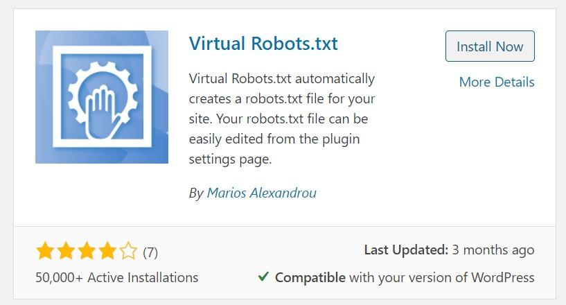 Virtual Robots.txt WordPress Plugin