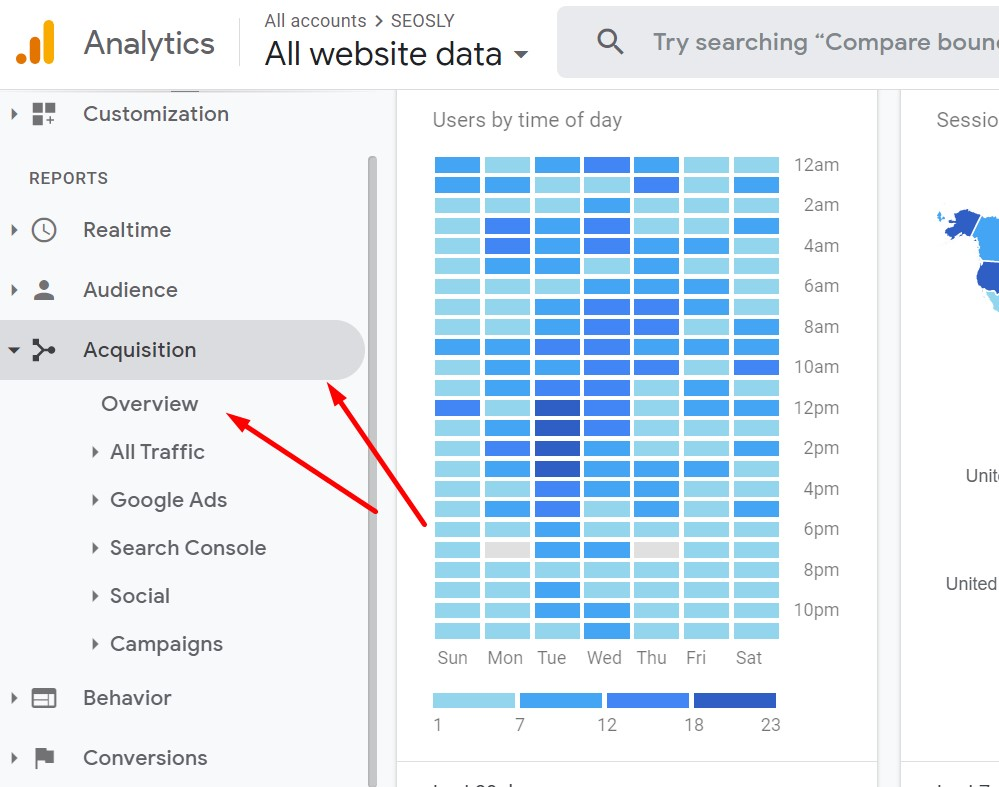 How to check organic search traffic in Google Analytics