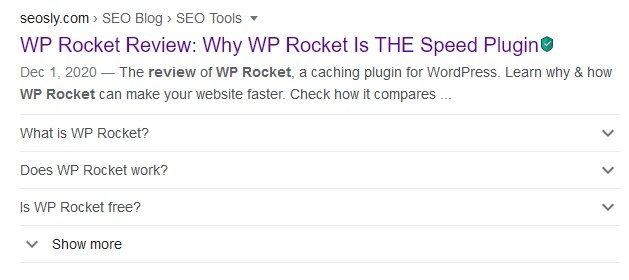seo glossary rich results