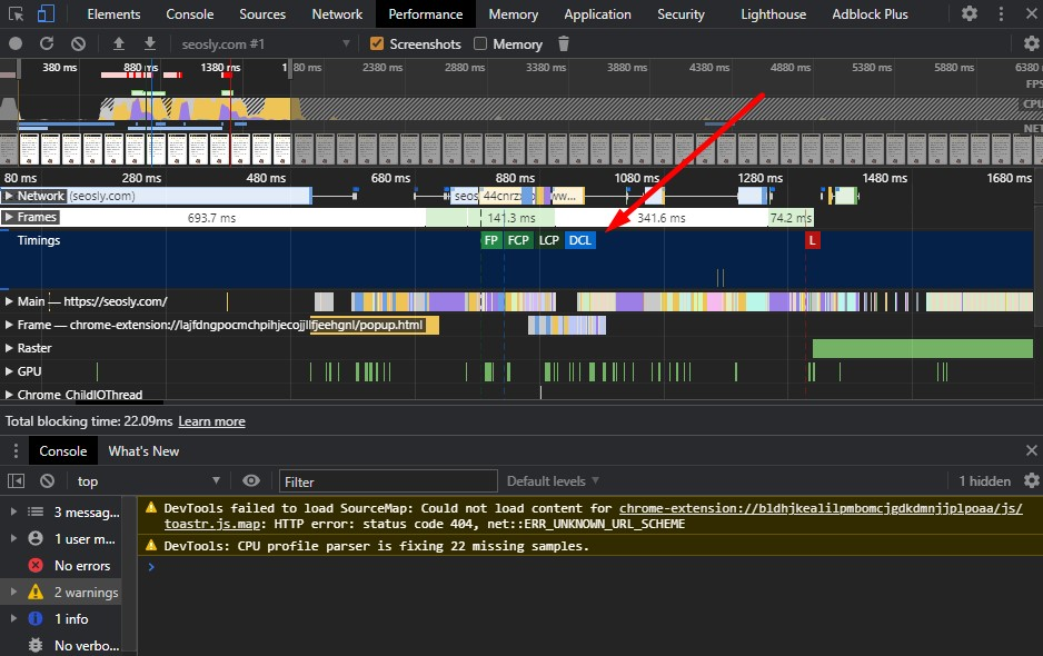 Core Web Vitals in Chrome DevTools