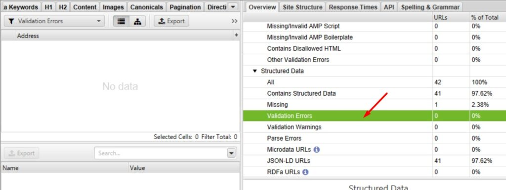 Structured Data Validation in Screaming Frog