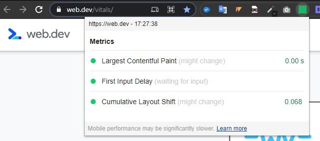 Core Web Vitals Audit tools: Chrome Web Vitals
