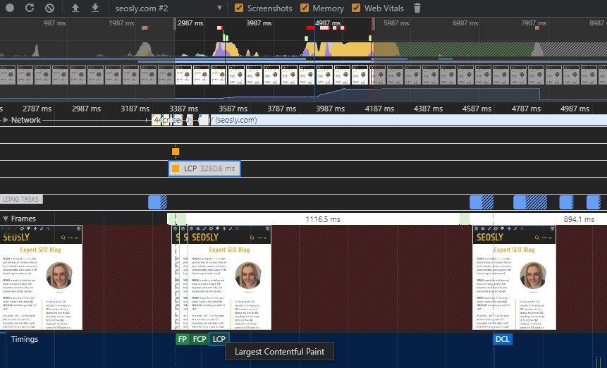 Largest Contentful Paint in Chrome DevTools