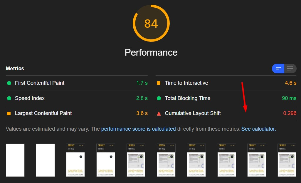 Google Page Experience Audit: CLS in Lighthouse
