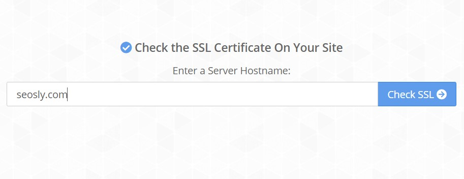 Page Experience Audit: Checking the SSL certificate