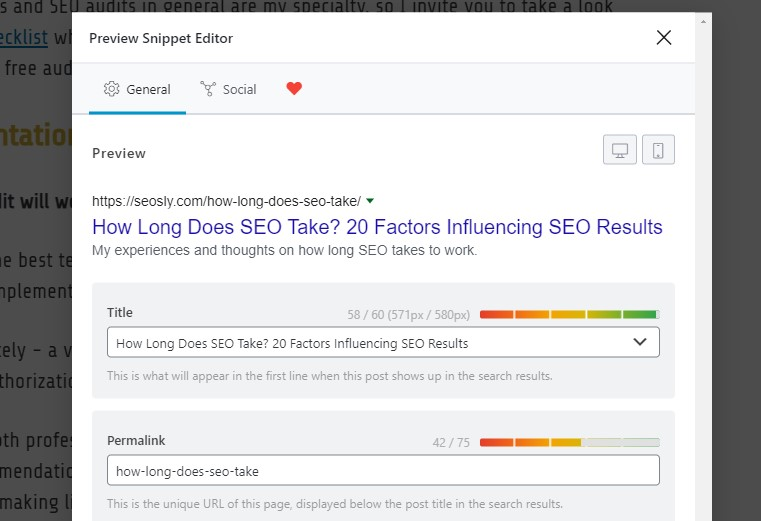 Implementation of SEO audit recommendations
