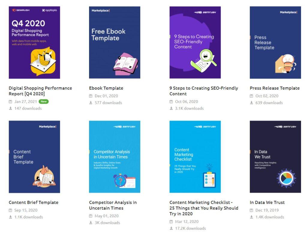 SEMrush Ebooks