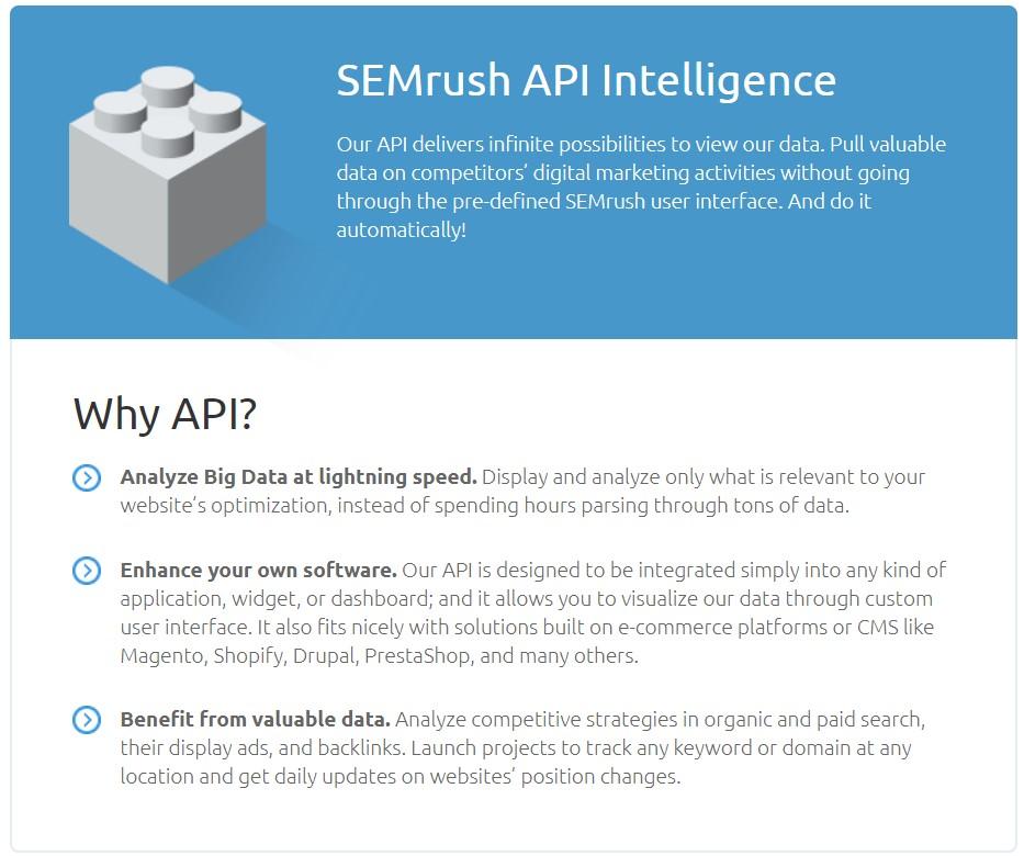 SEMrush API