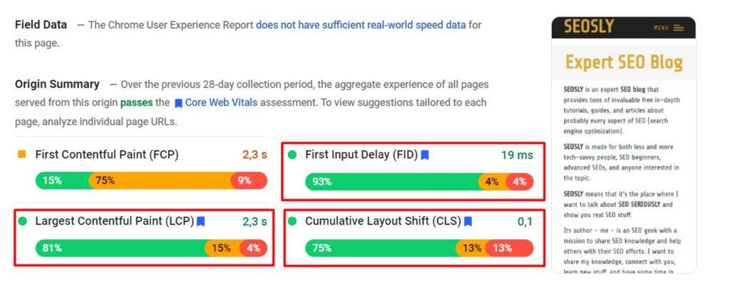 Google page experience guide: core web vitals