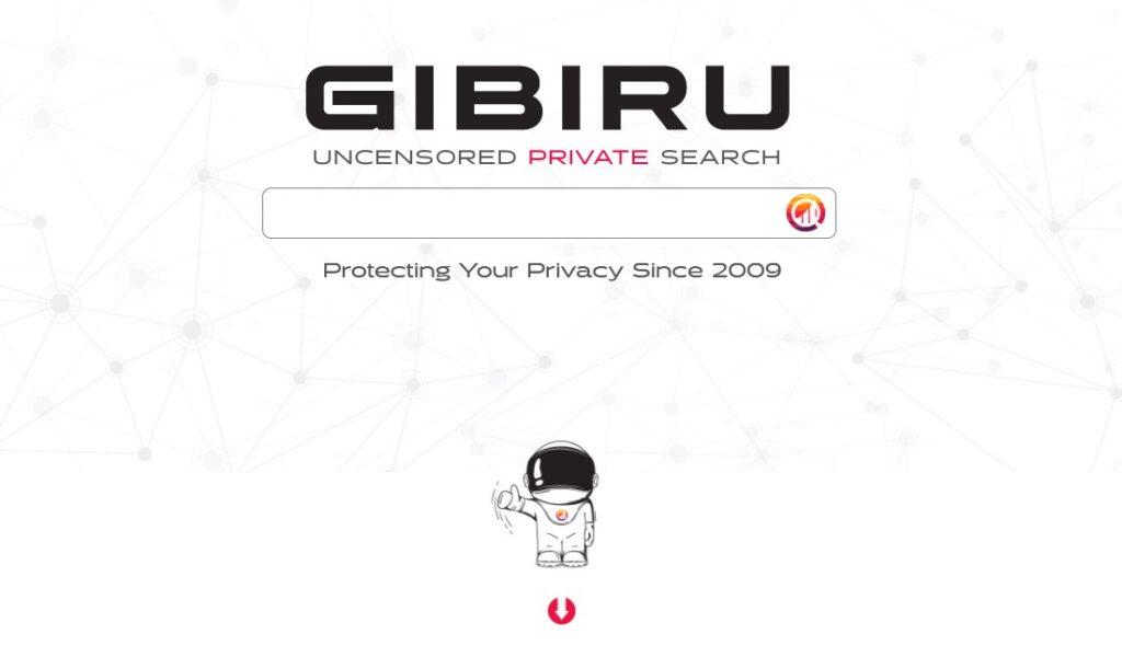 Gibiru privacy search engine