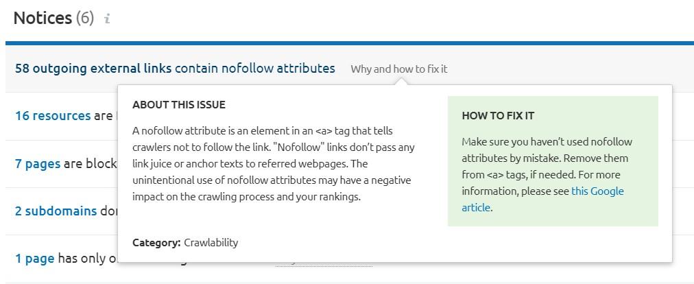 On-page SEO Checklist: nofollow