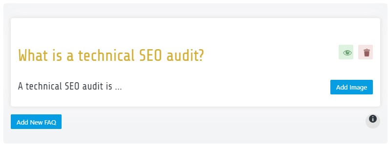 FAQs and SEO
