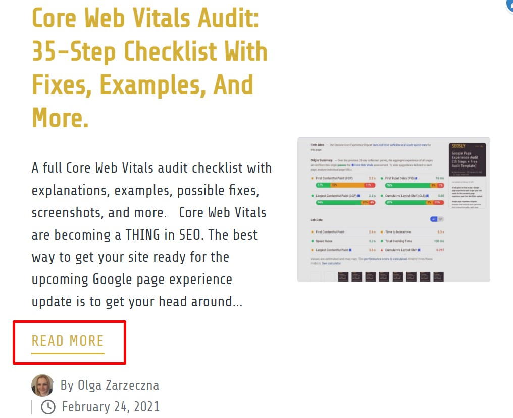 On-page SEO checklist: low-value links
