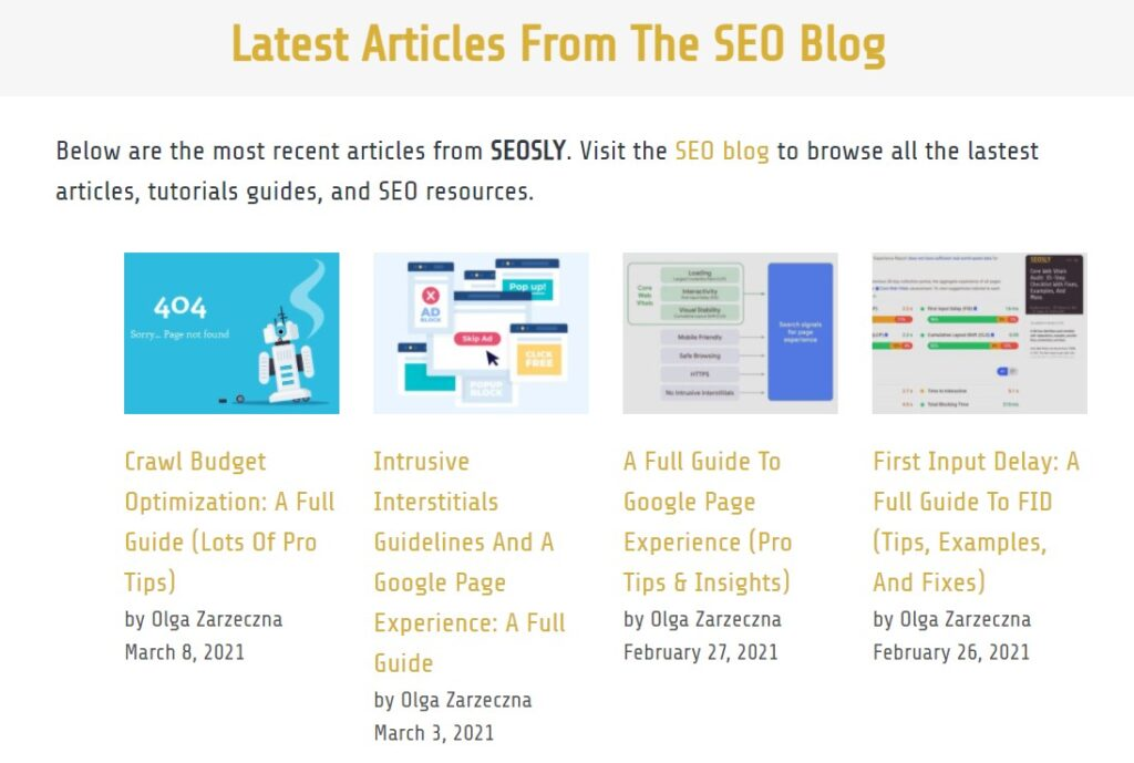 Adding new content is an important on-page SEO element