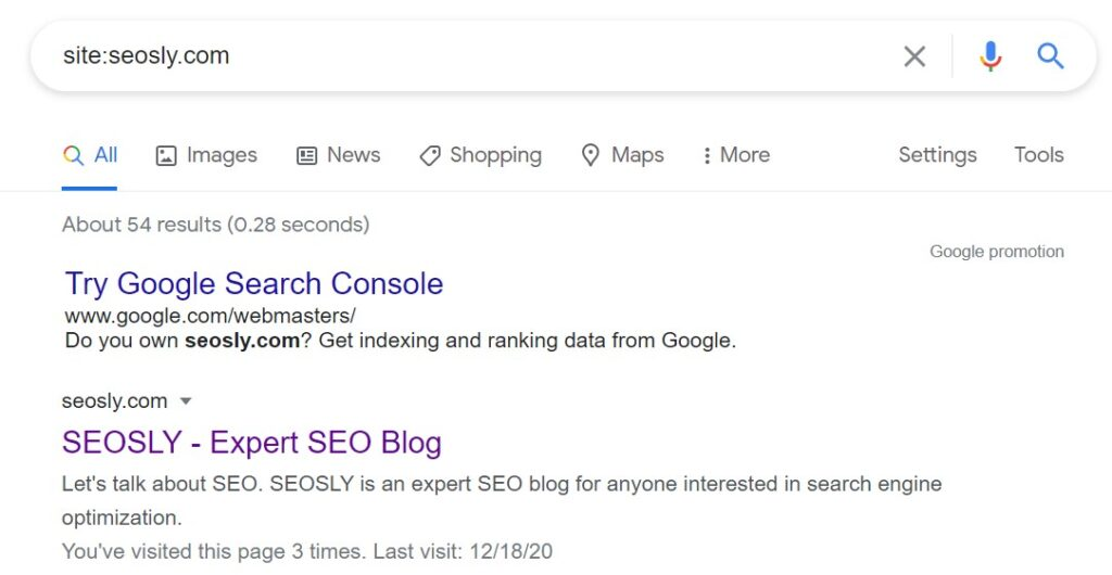 On-page SEO checklist: indexability