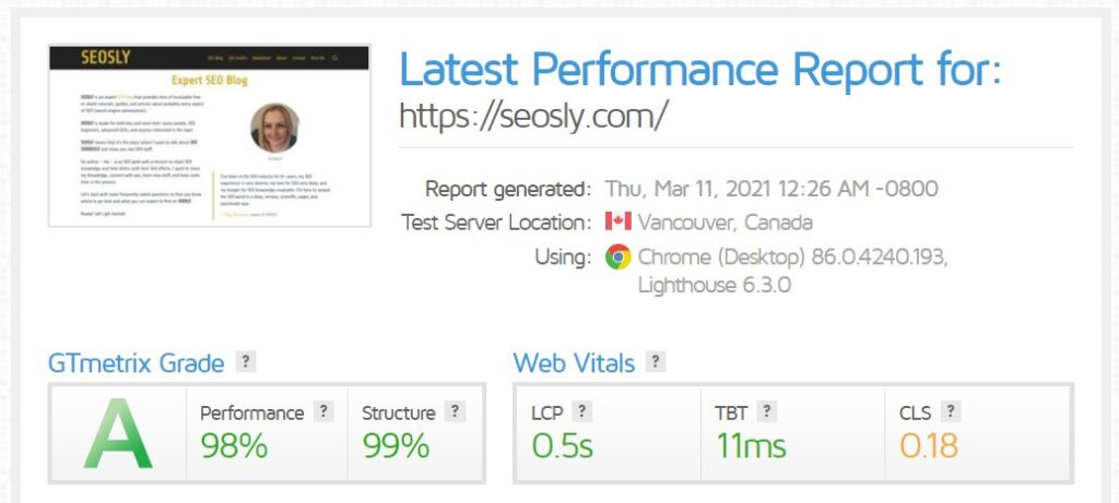 On-page SEO Checklist: speed