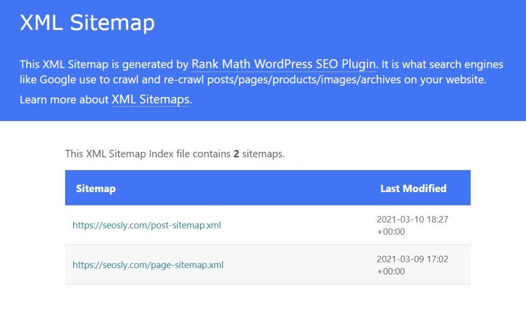 On-page SEO checklist: XML Sitemap