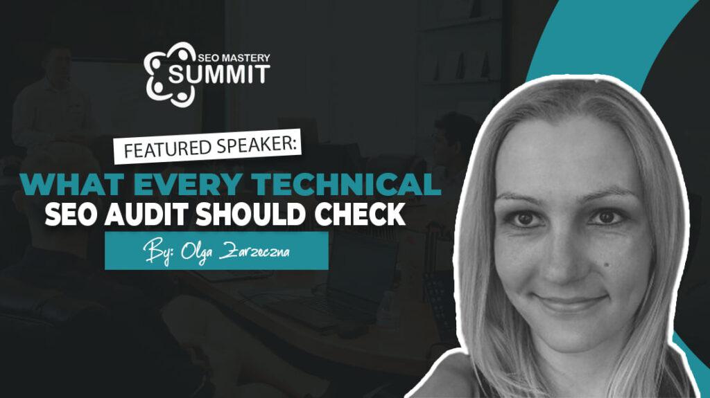 Olga Zarzeczna SEO Matery Summit Speaker