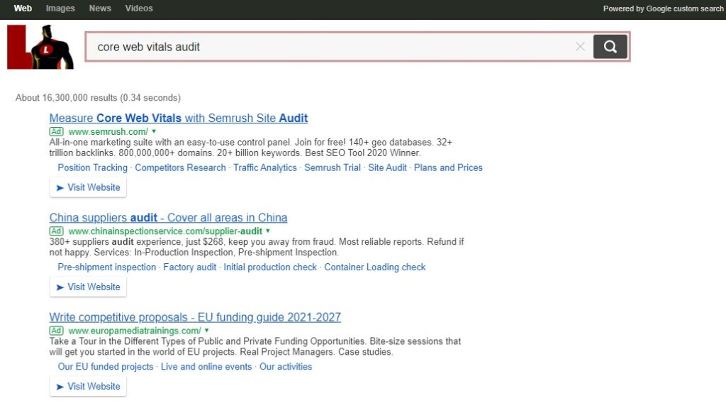 Lukol search results