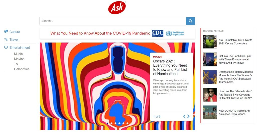 Search engines besides Google: Ask.com