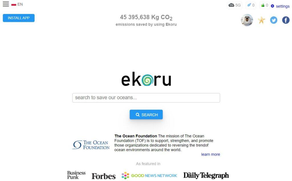 Alternative search engines: Ekoru