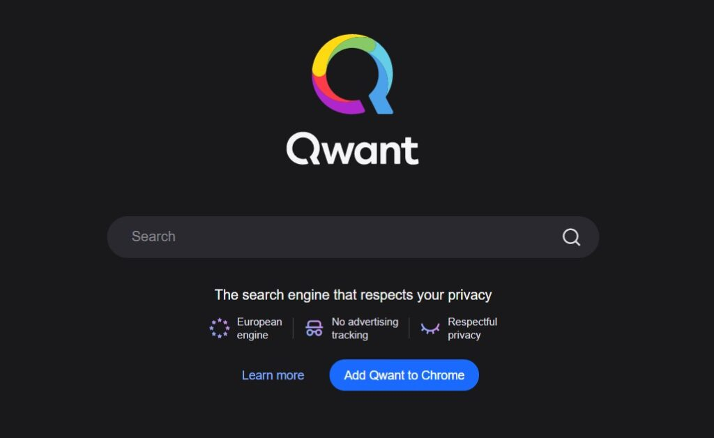Alternative search engines: Qwant