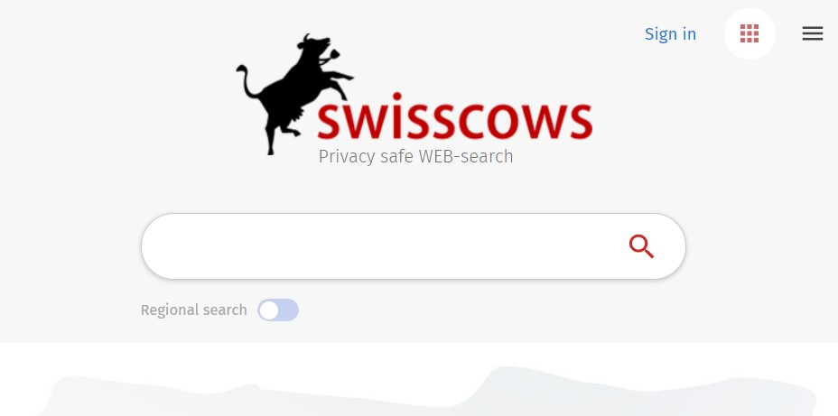 Alternative search engines: SwissCows