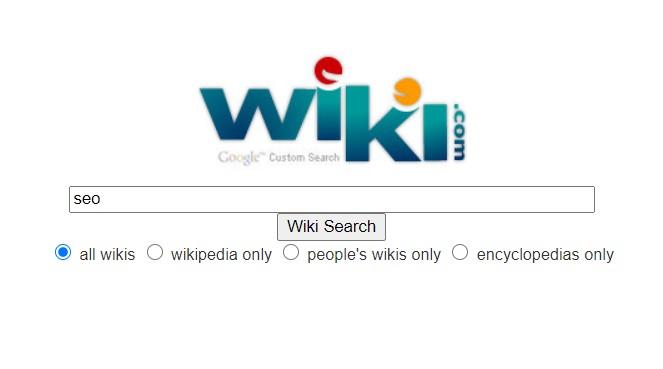 Alternative search engines: wiki.com