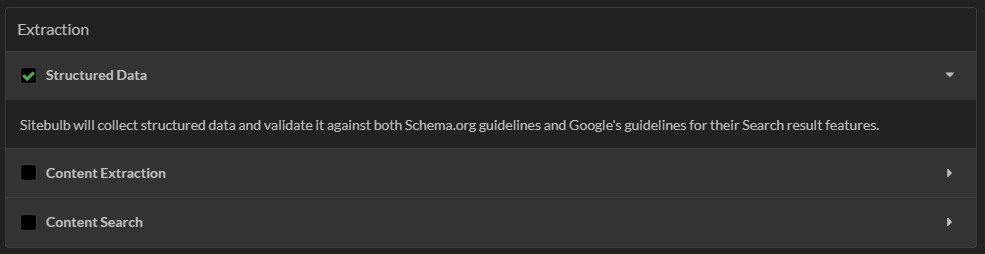 Adding structured data to SEO audit scope in Sitebulb