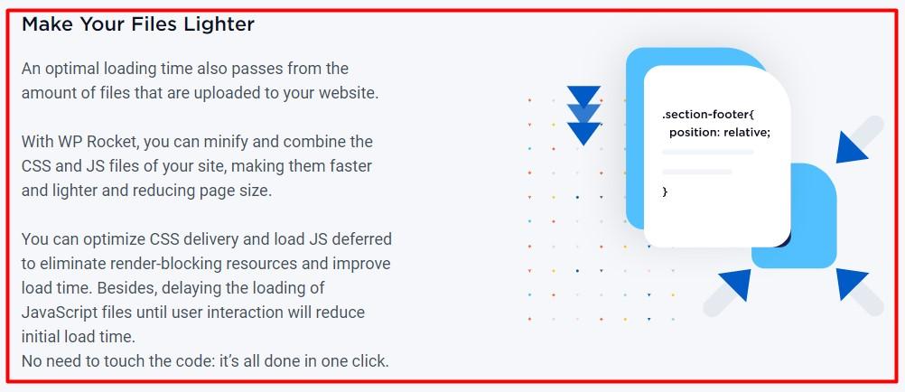 WP Rocket Review: file optimization