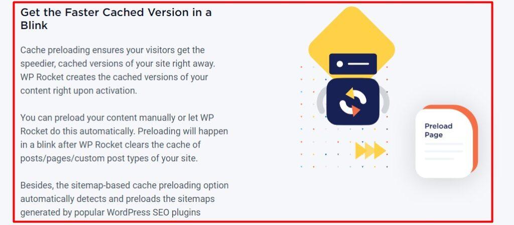 wp rocket review preloading