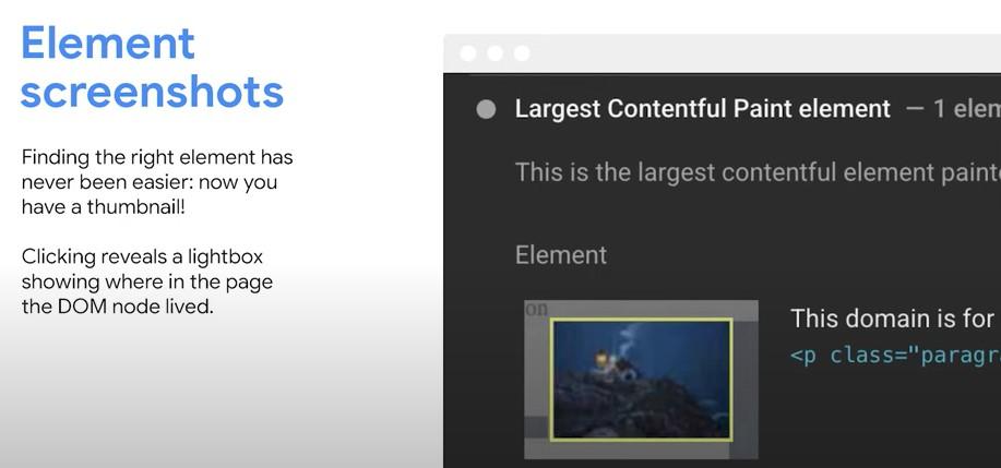 element screenshots