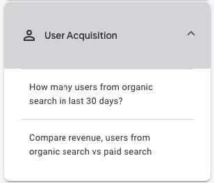 Analytics Intelligence Insights: User Acquisition