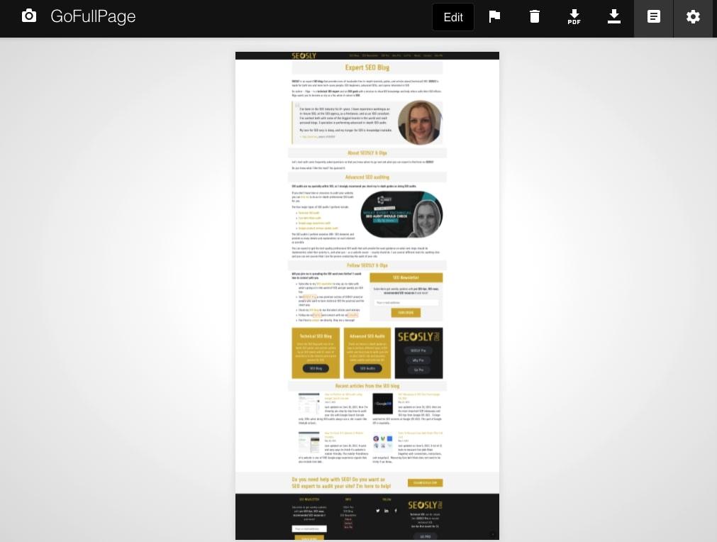 GoFullPage SEO Chrome Extension