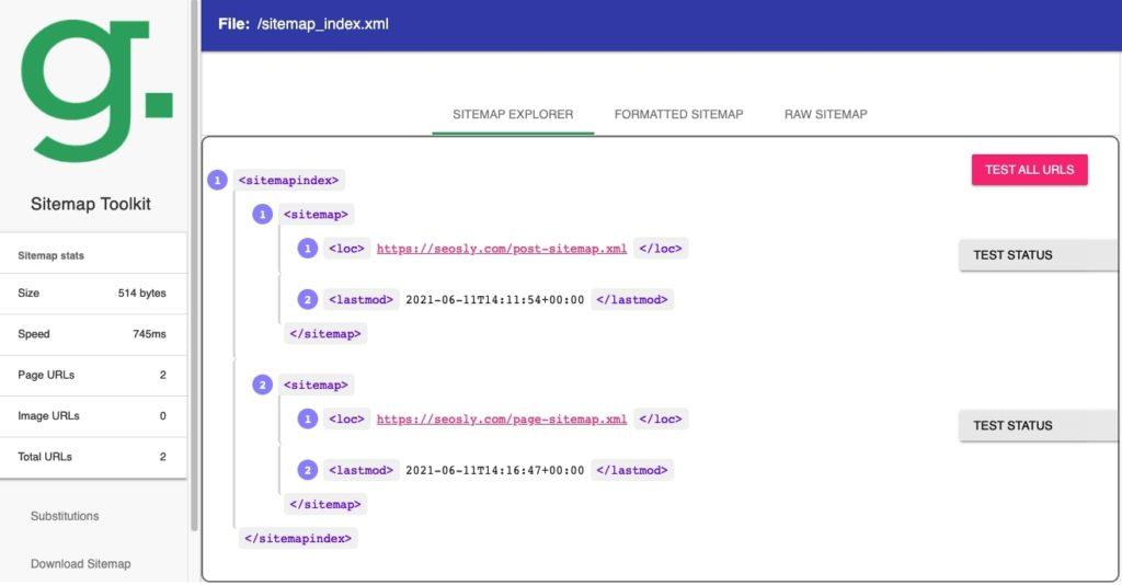 Greenlange SEO Sitemap Tools
