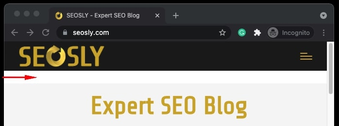 Shrinking browser window to check if a site is mobile-friendly