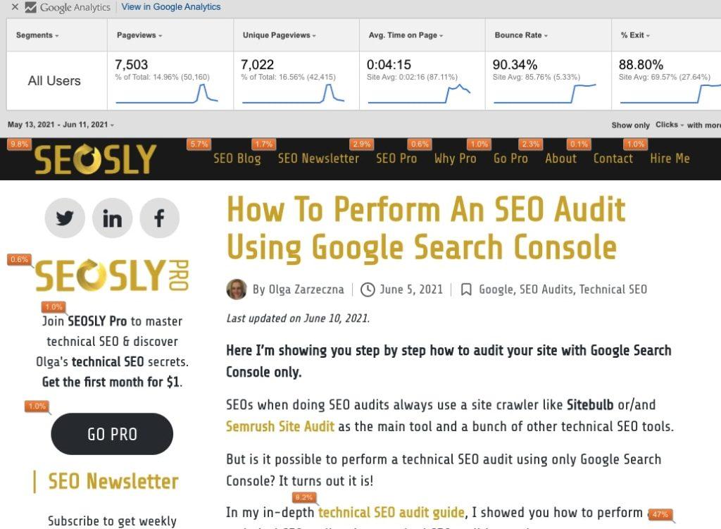 Page Analytics SEO Chrome Extension