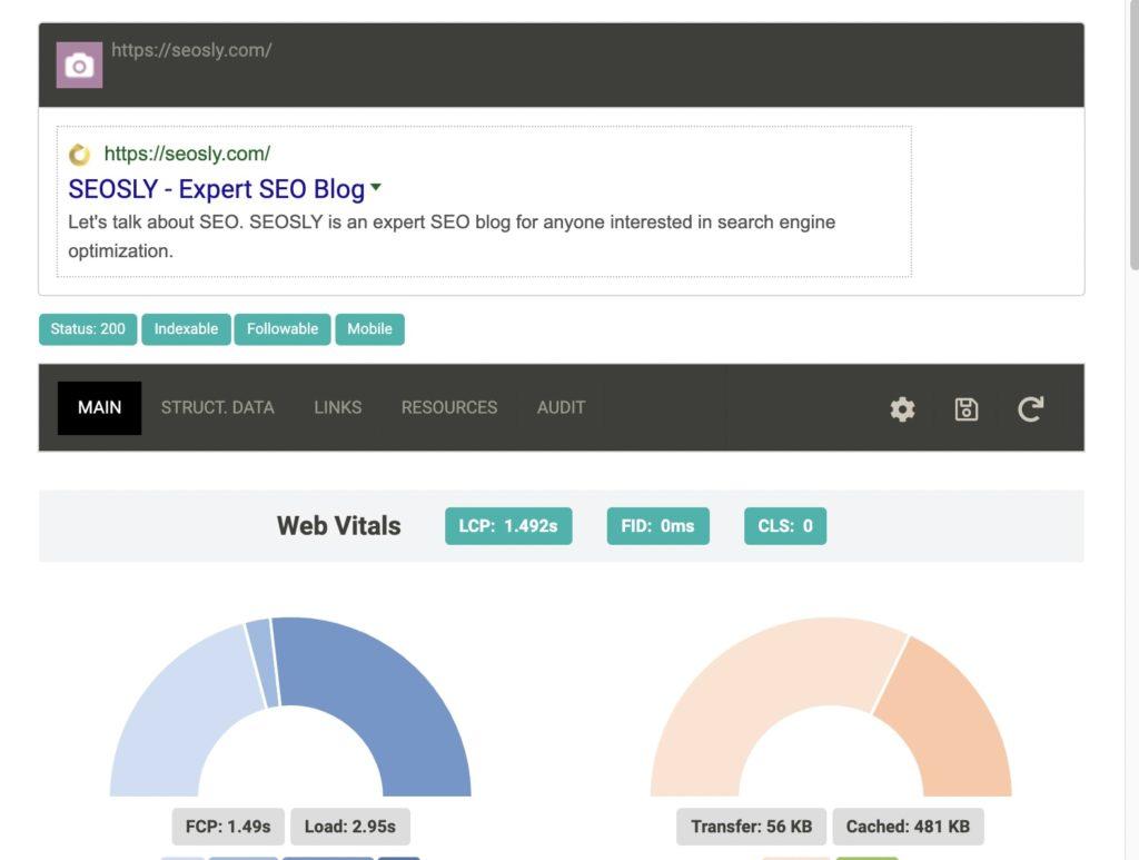 SEO Info SEO Chrome Extension