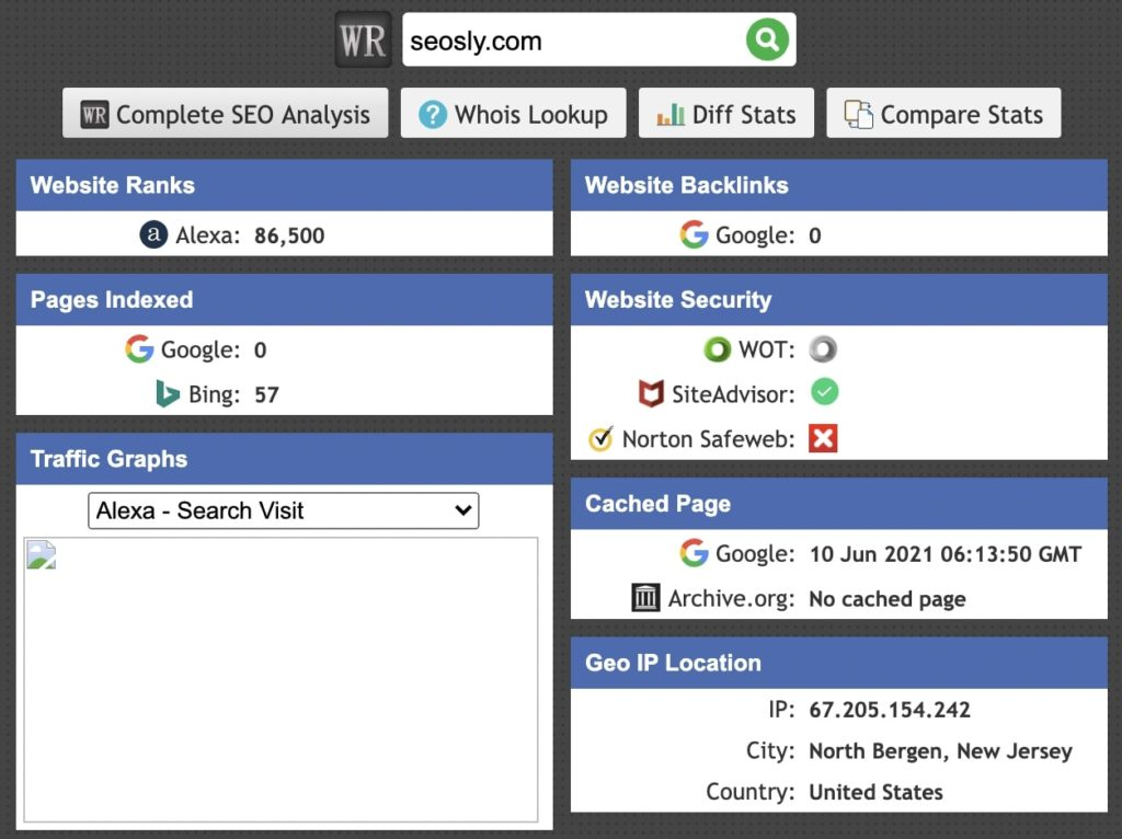 WebRank SEO Chrome Extension