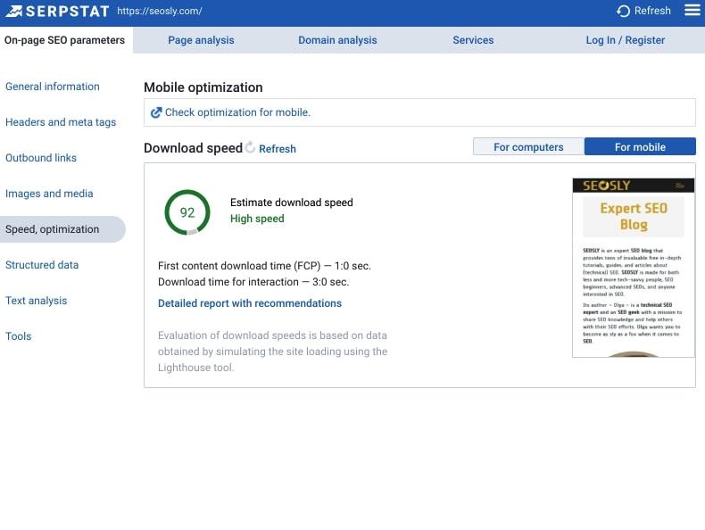 Serpstat SEO Chrome Extension