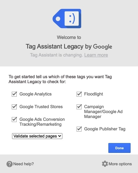 Tag Assistant SEO Chrome Extension