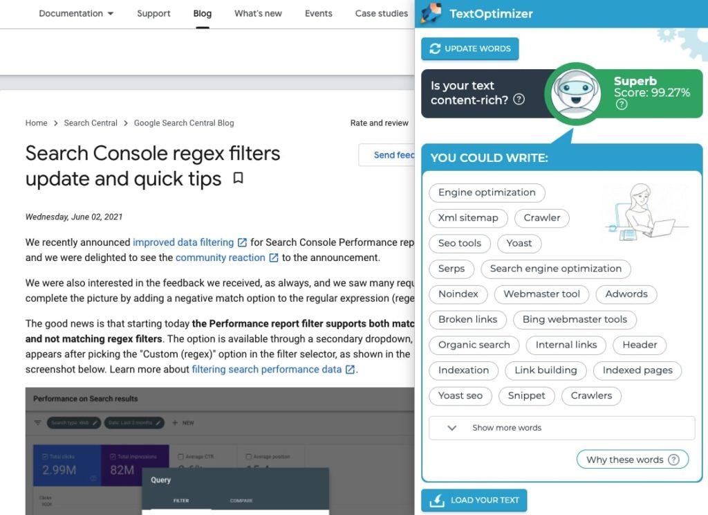 TextOptimizer SEO Extension