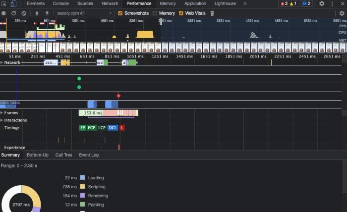 Chrome DevTools SEO audit tool