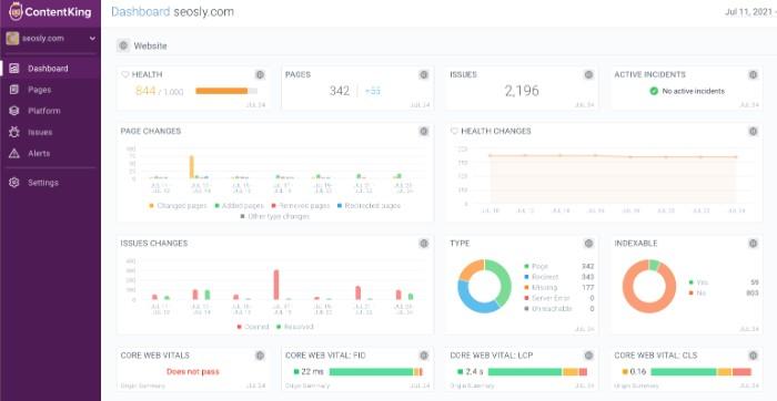 ContentKing SEO Audit tool